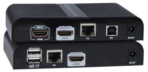 4K HDMI USB KVM Extender Over IP Remote Keyboard Monitor Mouse