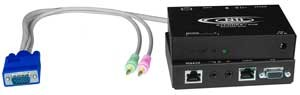 VGA + two-way audio extender to 1,000 feet via CAT5 cable, Receiver