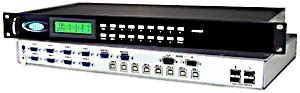 VGA USB KVM matrix switch, 2 user & 8 computer, OSD/RS232 control, rackmounted