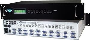 VGA USB KVM matrix switch, 4 user & 16 computer, OSD/RS232 control, rackmounted