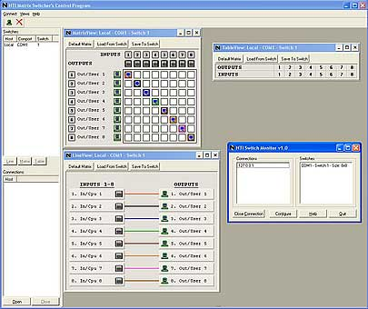 Video Matrix Switch RS232 Ethernet Control multiple monitors